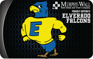 Elverado Falcons Murphy Wall Visa Check Card